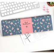 Desk wirebound pattern undated weekly planner