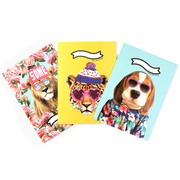 Fashionista animal lined notebook