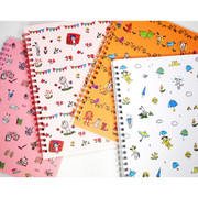 Odong et valerie wirebound thin lined notebook