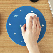 Duck pattern standard round mouse pad