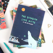 Bon Bon pattern lined notebook medium ver.2