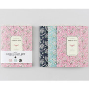 Cherry blossom pattern lined notebook small set