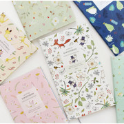 Willow story pattern slim lined notebook