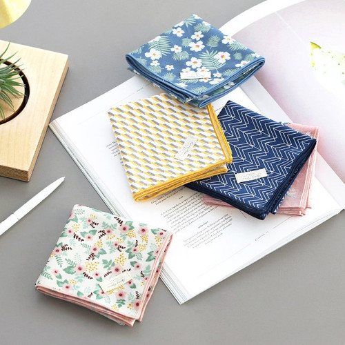 Comely pattern cotton handkerchief hankie