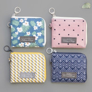 Comely pattern half zip around wallet