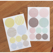 Pattern round deco sticker set