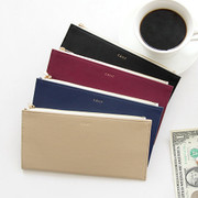 Caily flat long zipper wallet