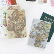 World map passport cover case ver.2