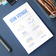 Bon voyage travel record planner note