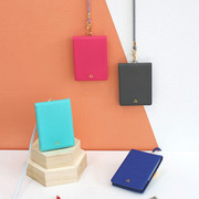 The Prism slim card wallet with neck strap