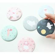 Piyo cute pattern round hand mirror
