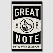 Great Note paperback plain notebook