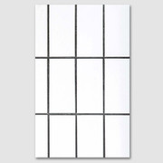 White Square paperback plain notebook