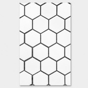 White Hexagon paperback plain notebook