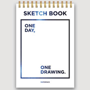 One day wirebound sketch drawing notebook