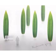 Appree Bamboo leaves bookmark black ballpoint pen set
