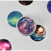 Space circle sticker set