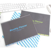 Wirebound undated monthly desk planner