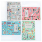 Dorothy and Alice bon voyage city lined notebook