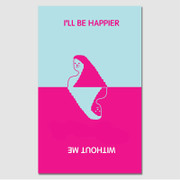 Paperpack I'll be happier without me paperback plain notebook