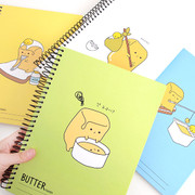 Butter friends wirebound lined notebook