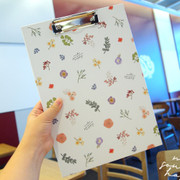 Moons Friends flower line pattern A4 clipboard