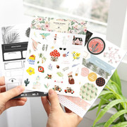 Iconic Diary deco sticker set 9 sheets in one set ver.7