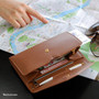Mocha brown - Start of travel clutch organizer