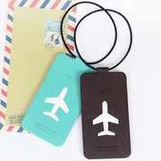 Fenice Simple folding airplan travel luggage name tag