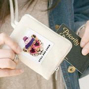 Real looker half zip around card case