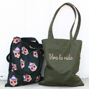 Viva la vida shoulder tote bag