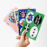 Fashionable animal look book sticker set