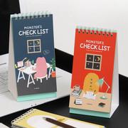Indigo Monster's checklist desk notepad