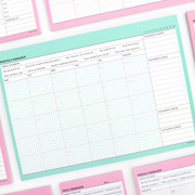 Paperian Schedule manager undated monthly desk planner
