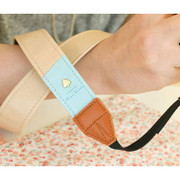 Alice camera strap - beige and mint