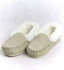 Skinnys Sheepskin Moccasin Natural