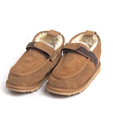 Skinnys Velcro Walking Shoe Chestnut