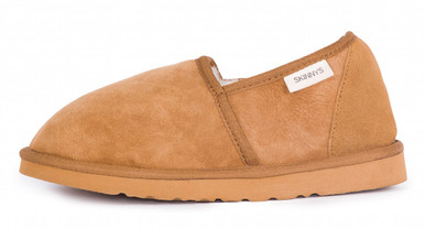 Skinnys Duke Mens Slipper Chestnut (outside)