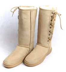 Skinnys Outback lace-Up Boot Natural