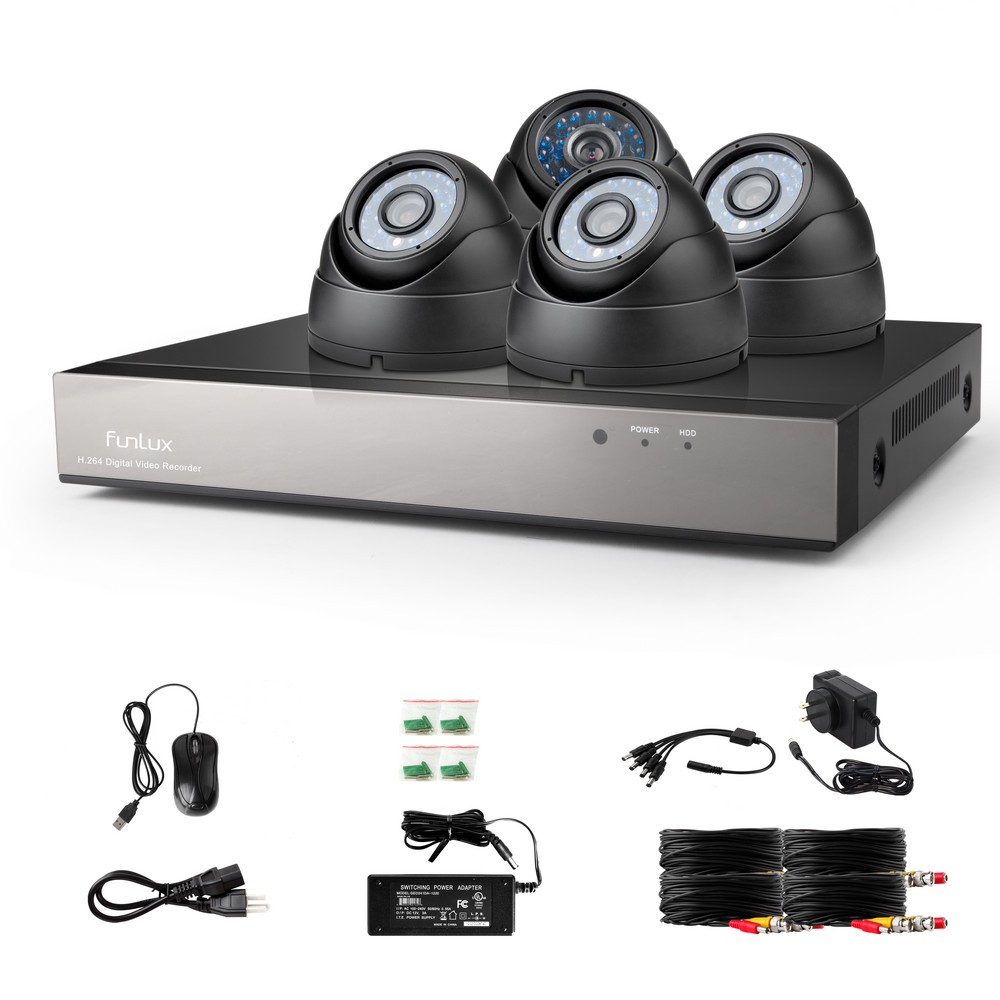 Funlux Dome Camera Security System Kit