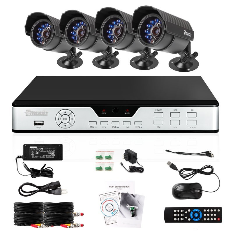 Pkd dk4216 500gb zmodo 4 ch cctv security dvr led camera for Security camera placement software
