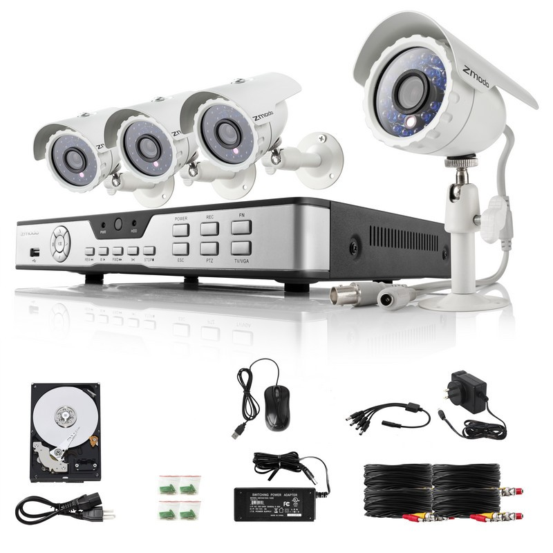 Security Camera System 8 Channel with 4 IR day Night 480TVL 3.6mm Lens