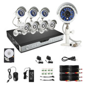 Zmodo 16CH DVR 1TB & 8 CMOS 600TVL 65ft IR Outdoor Security Cameras