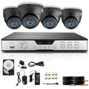 Zmodo 4 channel system with 4 dome cameras