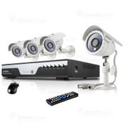 Mac Compatible 8 Channel 960H H.264 DVR & 1TB HDD with 4 600TVL Outdoor Night Vision Bullet Security Cameras