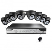 8CH H.264 DVR Security System with 600TVL Vandal-proof Dome Indoor Outdoor Cameras - (Choose HDD & Cameras)
