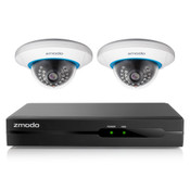 Zmodo 4 Channel 720P NVR with 2 Indoor Dome WiFi Network IP Cameras