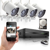 Zmodo/Funlux 4 Channel 720P NVR with 4 Bullet  Network IP Cameras