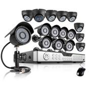 Zmodo 16CH CCTV Security System 1TB HDD & 16 600TVL Hi-Reso Cameras