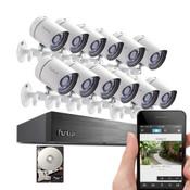 Zmodo / Funlux 16 Ch DVR Kit w/ 12 Cameras